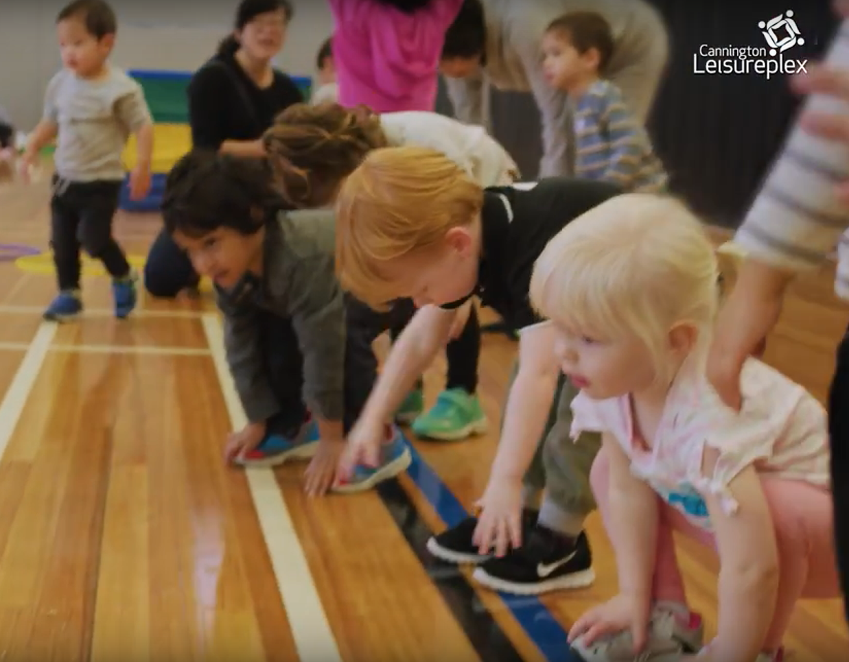 Kindy Sports touch toes