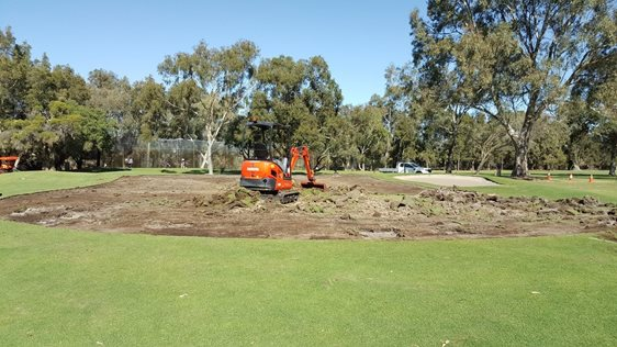 Whaleback 3rd green reconstruction